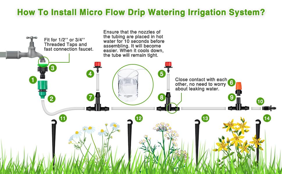 Tropf Gute Qualität Kopf Für Garten Nebel Wasser Bewässerung Haltbar Dripper