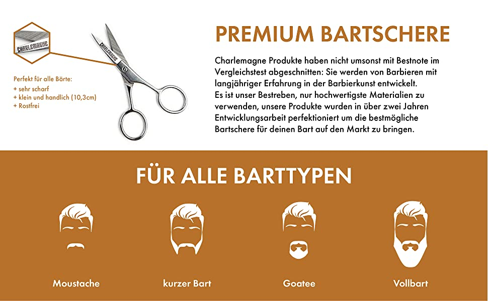 Bart-Schere Edelstahl