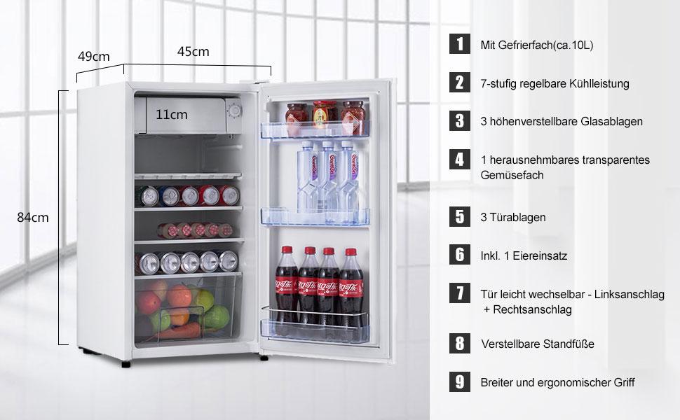 COSTWAY Kühlschrank Mit Gefrierfach Standkühlschrank