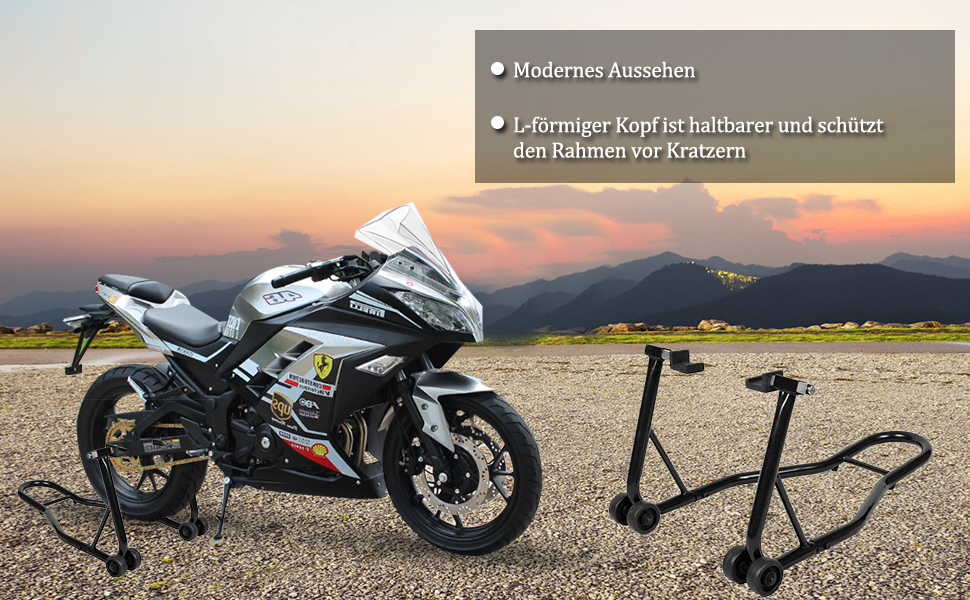 Costway Motorcycle Rear Assembly Stand Wheel Holder For The Rear Wheel Adjustable Width Auto