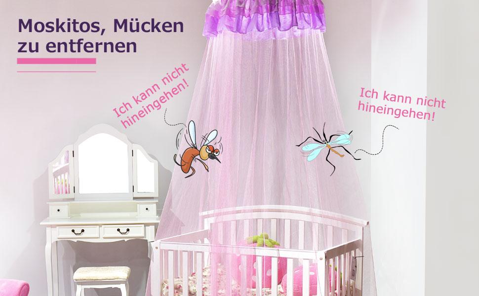 Costway Betthimmel Kinder Moskitonetz Muckennetz Baldachin