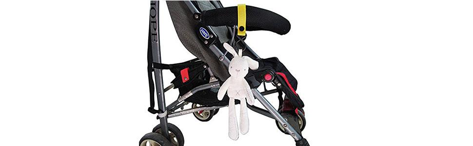 Robin Goods/® 2x Kinderwagen Haken mit rutschfesten Gumminoppen f/ür Wickeltasche Kinderwagenhaken Kinderwagen Taschenhalter Taschenkarabiner Karabinerhaken Kinderwagen