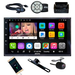 atoto a6 2 din android auto navigation stereo mit amazon. Black Bedroom Furniture Sets. Home Design Ideas