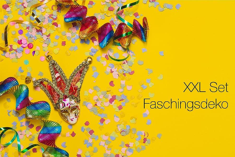 Fasching Karneval Deko Dekoration Fur Tisch Mit Luftballons