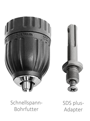 Bohrfutter Schnellspannbohrer 2-13mm Gewinde Neu Zubehör Hohe Qualität