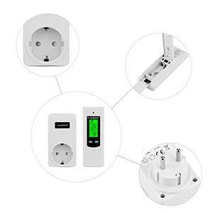floureon thermostat wireless steckerthermostat rf stecker heizk rperthermostat heizen k hlen. Black Bedroom Furniture Sets. Home Design Ideas