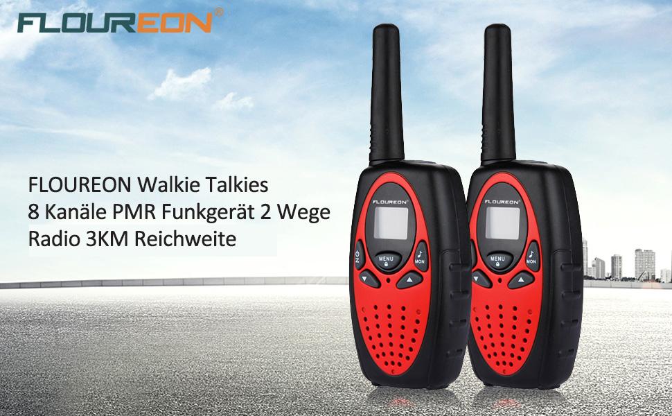 FLOUREON PMR Funkgerät 8 Kanäle Walkie: Amazon.de: Elektronik