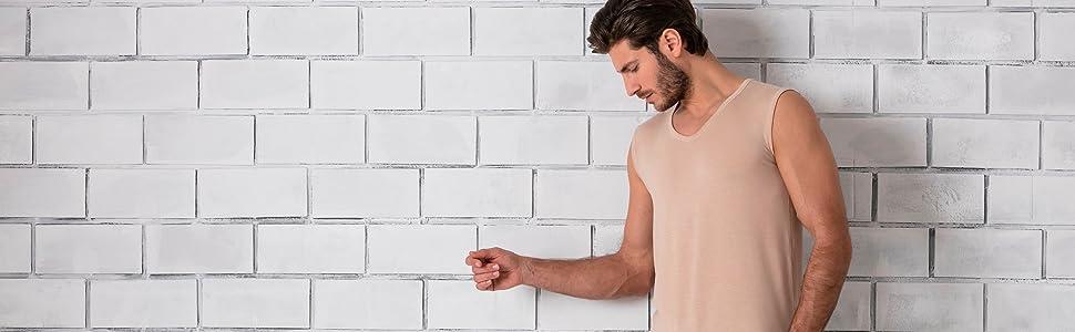 67f7cb62d40287 FINN Unterhemd Ärmellos in Hautfarbe als Tank-Top ohne Arm in unsichtbarem  Nude Farbton
