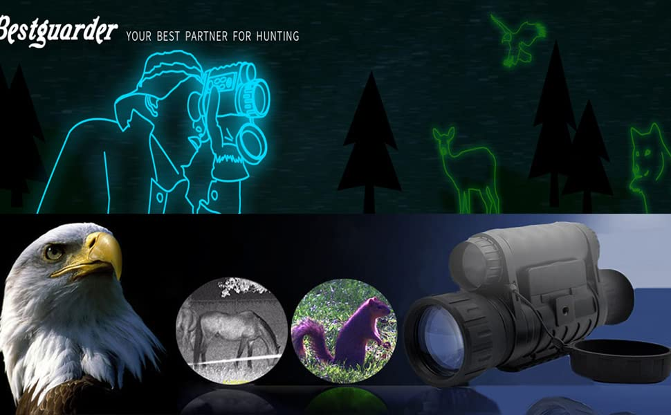 6 x 50 digital nachtsichtgerät 350m reichweite: amazon.de: kamera
