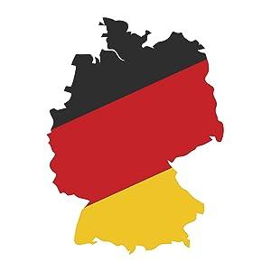 Deutschland-Karte schwarz, rot, gelb