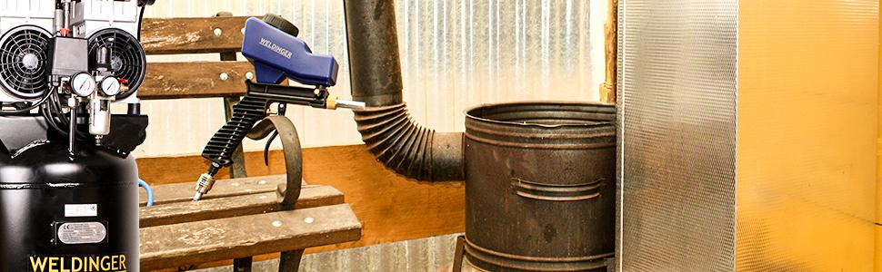 WELDINGER Sandstrahlpistole mit Tank