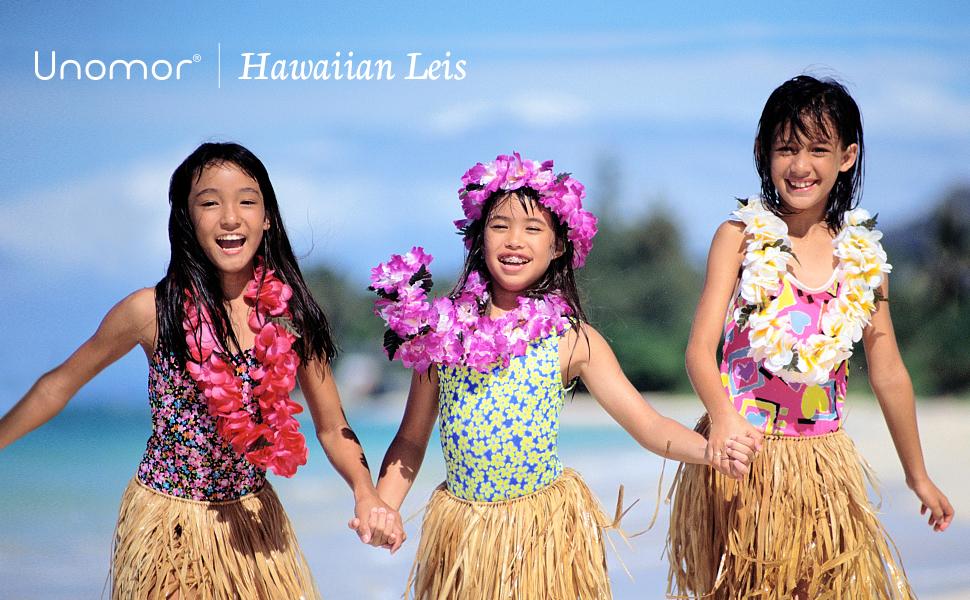 48Pcs Lei Blumen Girlande Halskette Hawaii Tropisch Strand Pool Party Kleid Luau