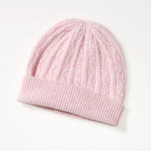 rosa farbene Strickmütze