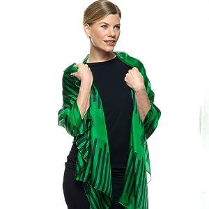 giftgrünes Tuch