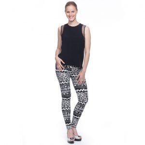 schwarz weiß leggings