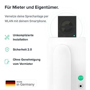 Für Mieter und Eigentümer. nello one vernetzt die Sprechanlage per WLAN mit dem Smartphone.