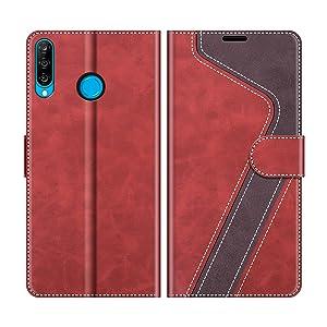 Lomogo Huawei P30 Lite//nova 4e H/ülle Leder LOHME010354 Rot Schutzh/ülle Brieftasche mit Kartenfach Klappbar Magnetisch Sto/ßfest Handyh/ülle Case f/ür Huawei P30Lite