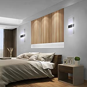 Topmo-plus 12W Wandlampe LED Wandleuchten ideal für Schlafzimmer ...
