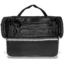 schwarze Tasche geöffnet leer