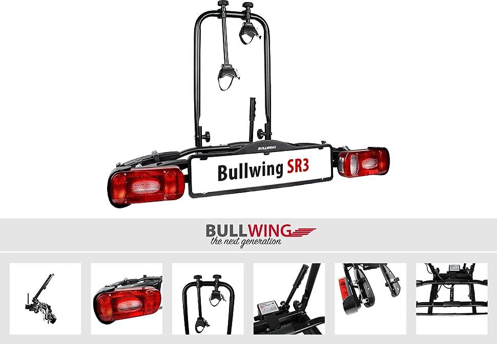 bullwing sr3 fahrradtr ger f r anh ngerkupplung mit. Black Bedroom Furniture Sets. Home Design Ideas