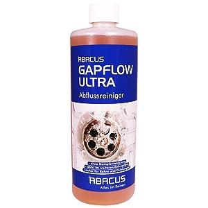 Abacus Gapflow 1000 Ml Abflussreiniger Rohrfrei Abfluss Verstopfung Reiniger Rohre Abwasser Abwasserrohre Abflussrohre Rohrverstopfungsmittel Haarloser Flussig Amazon De Drogerie Korperpflege