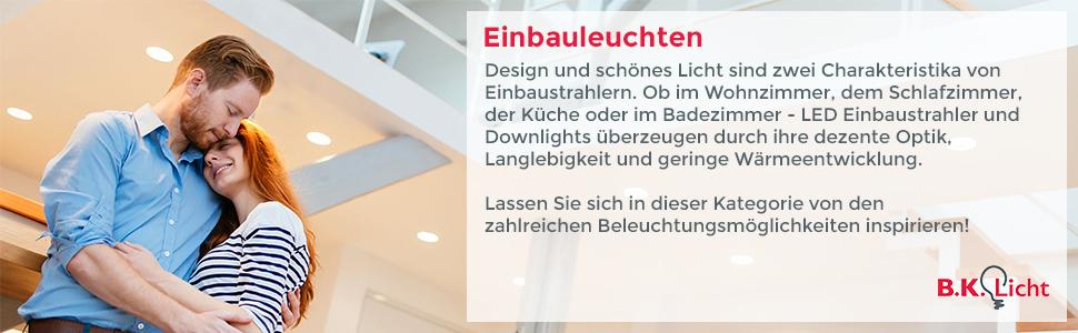 LED Einbaustrahler Dimmbar Schwenkbar Inkl. 6 x 5W 230V GU10 IP23 ...