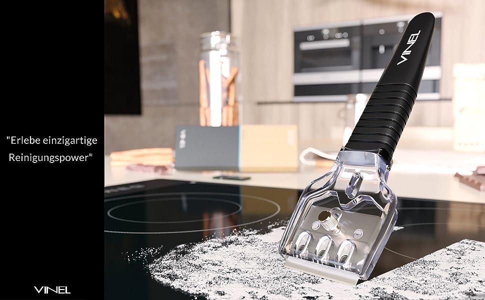 Herdkratzer f/ür Ceranfeld Kratzer Ceranfeldschaber mit 20 Ersatzklingen GUBOOM Herd Glasschaber Ceranfeld K/üchenschaber Herd Glasschaber Herdschaber Ceranfeld Kratzer Set