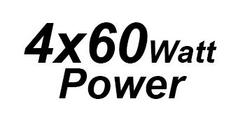 4x60 watt power