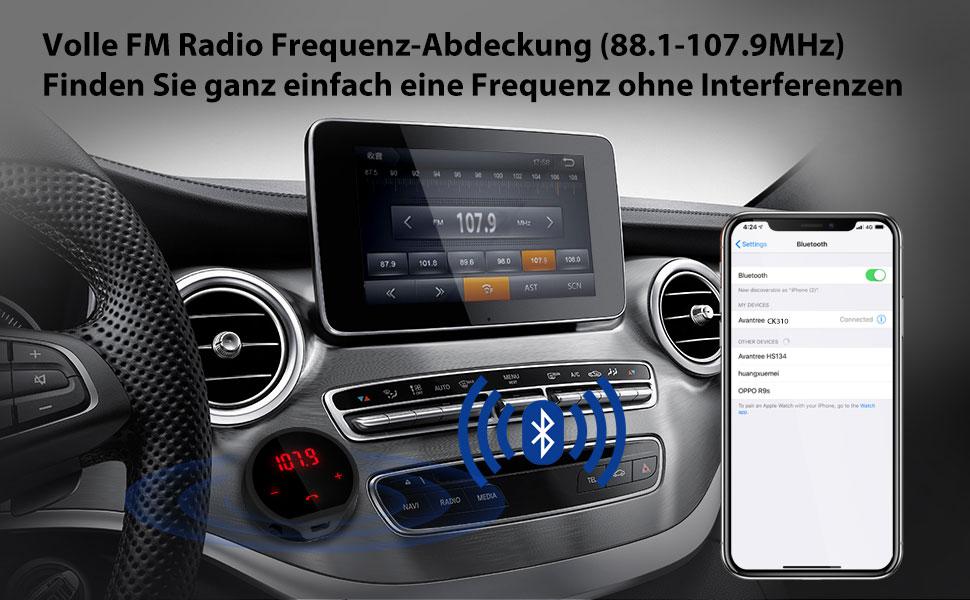 Avantree Kabellose Fm Transmitter V4 1 7 Stunden Elektronik