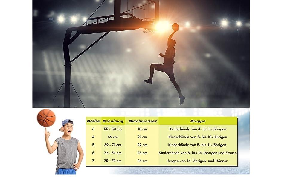 the best attitude ec121 9e8f5 meteor® Layup Mini Basketball fur Kinder Größe #3 ideal auf die Kinderhände  von 4-8 Jährigen abgestimmt idealer Jugend Basketball für Ausbildung ...