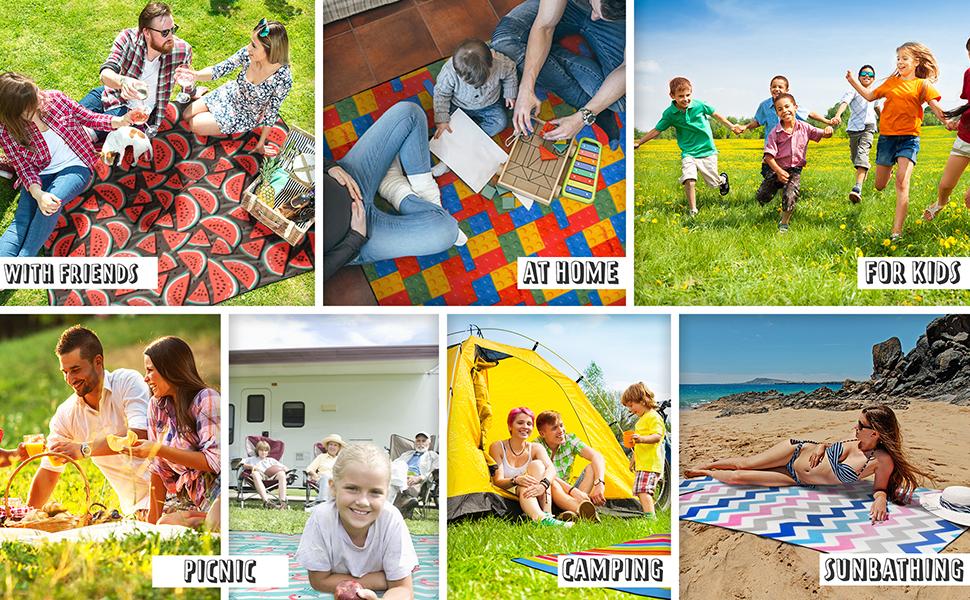 Outdoor Wasserdichte sand-dichte Picknick-Camping-decken Liegematte alubescichtet