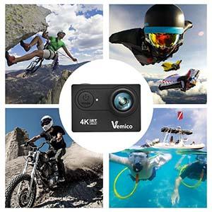 vemico action cam 4k action kamera wifi helmkamera. Black Bedroom Furniture Sets. Home Design Ideas