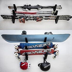 Wandhalterung Wandhalter Halterung Regal Aufbewahrung für Snowboard Long Board