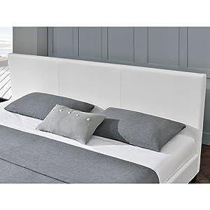 Polsterbett Barcelona 160 x 200 cm weiß