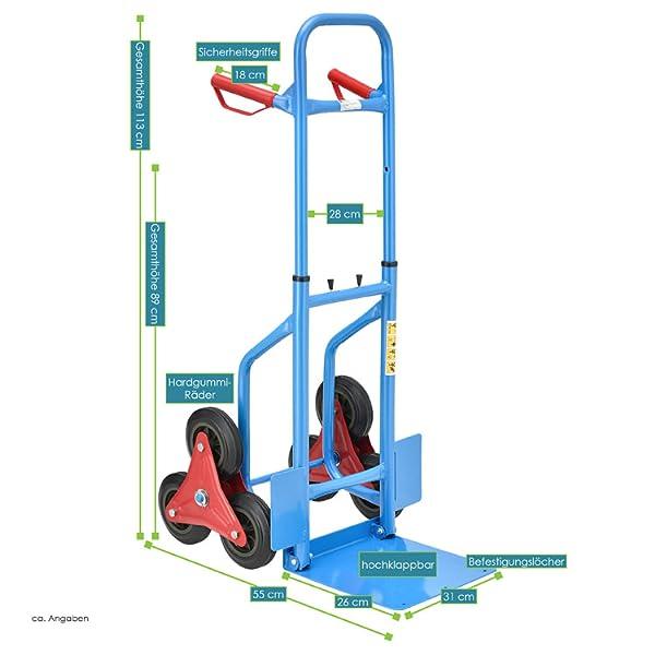 Treppen Sackkarre/Treppensackkarre bis 200 kg: Amazon.de