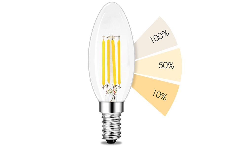 Led E14 Kerze Kronleuchter ~ Linovum fourstep dim e14 led kerze filament leuchtmittel dimmen