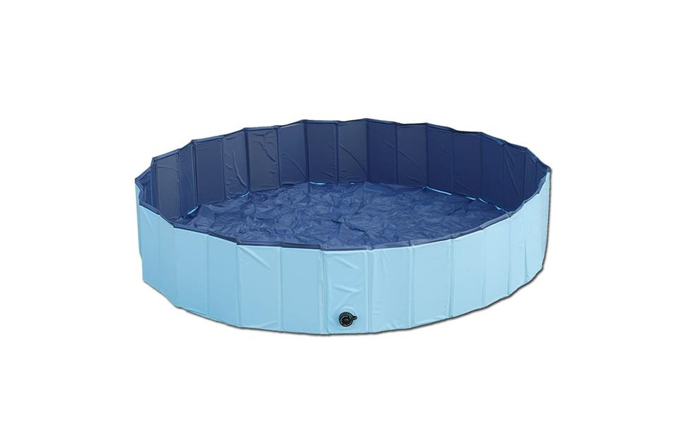 doggy pool planschbecken f r hunde swimmig pool der hundepool mit 80 cm durchmesser in blau. Black Bedroom Furniture Sets. Home Design Ideas