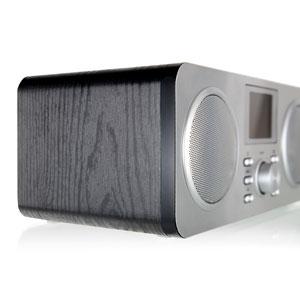 Hi-FI Anlage Schickt Holz Optisch Modern Internet Radio