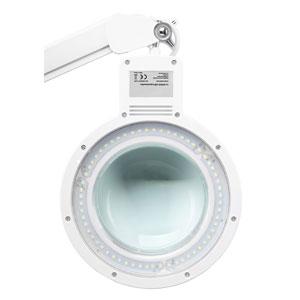 Hochwertige Lupenleuchte mit 60 SMD LEDs und 2,25-Facher Vergrößerung