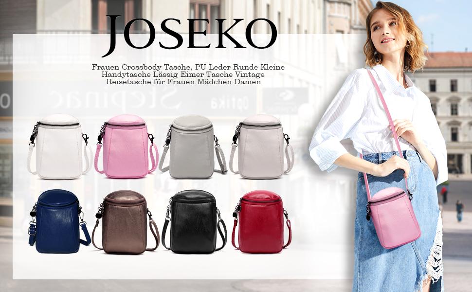 Damen Umhängetasche Schicke, JOSEKO Kleine Handtasche Mode PU Leder Schultertasche Verstellbar Schultergurt Phone Tasche Ausgehtasche Blau
