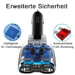 Satnav Dashcam Sitzheizung Wärmer Kühlbox DVD-Player Kaffeemaschine Auto Coffice Flasche Wärmer