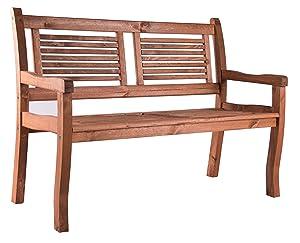 Amazon.de: Gartenbank 3 Sitzer Jorn von BOMI®| Holzbank