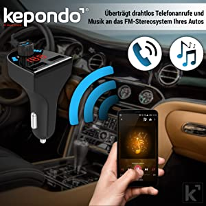 Kepondo Bluetooth FM Transmitter for Car