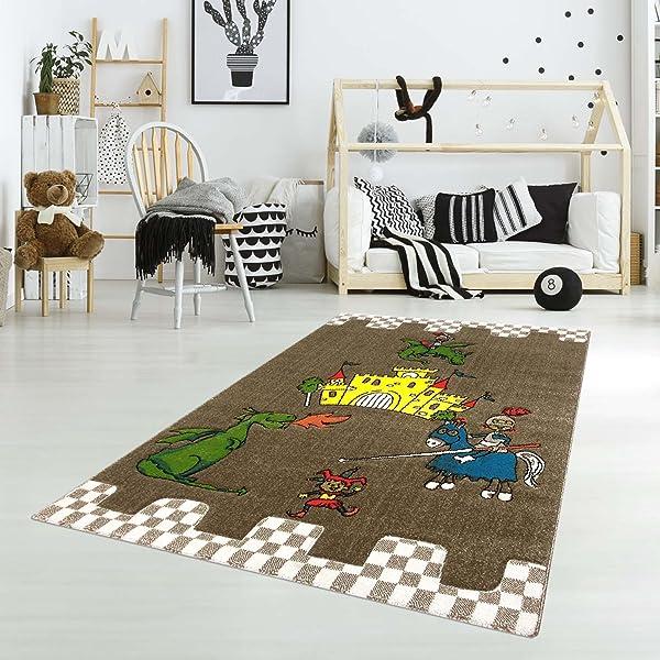carpet city Kinderteppich Spielteppich Flachflor Junior mit Ritter ...