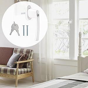 Farbe:Schwarz matt RAL 9005 Stiftl/änge:45mm pulverbeschichtet Design Aluminium Fenstergriff