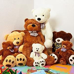 Teddy Teddybär Kuscheltier Kuschelbär Bär Braun Flauschig Beige
