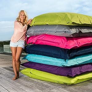 Sitzsack XXL Outdoor Indoor Garten Wasserfest Bean Bag Fullung Bezug Riesensitzsack Lila