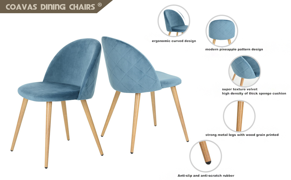 coavas Dining Stühle Soft Sitz und Rücken Küchenstühle mit