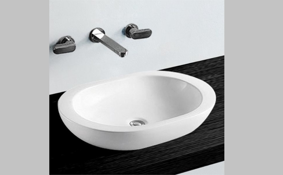 NEG Waschbecken Uno25A Aufsatz-Waschschale//Aufsatzbecken//Waschtisch Lotus-Effekt