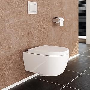 neg h nge wc uno11rk tiefsp ler randlos kurz toilette ohne untersp lrand mit duroplast soft. Black Bedroom Furniture Sets. Home Design Ideas